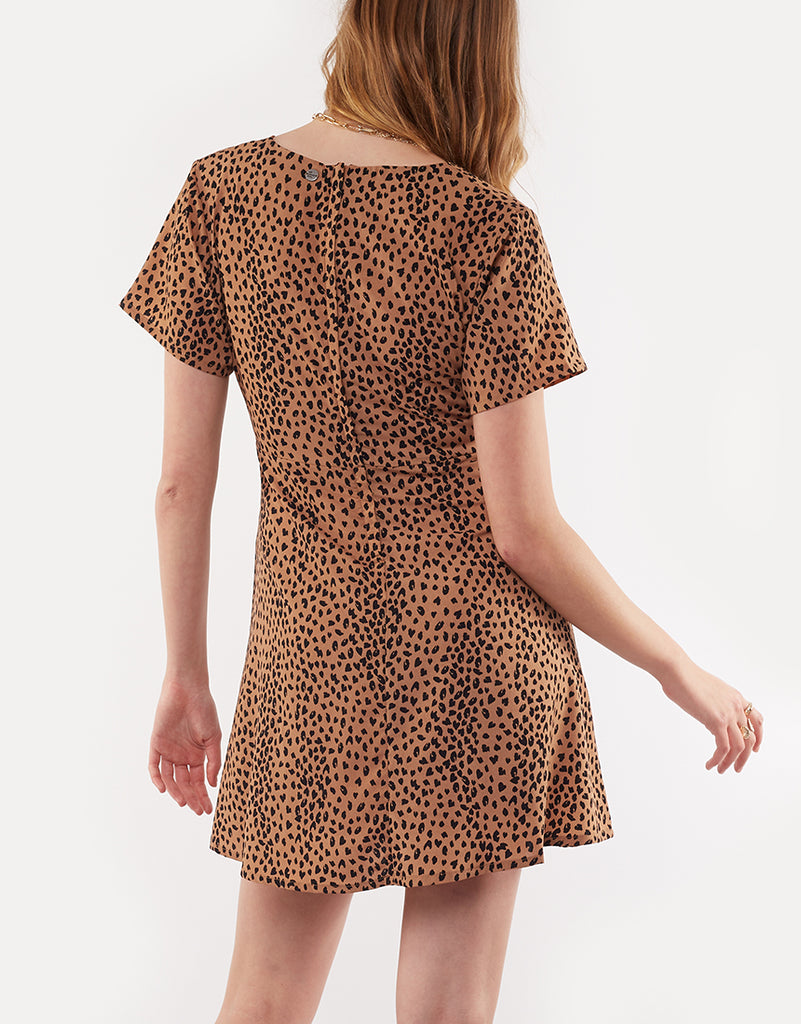 BE WILD MINI DRESS - BE WILD TAN