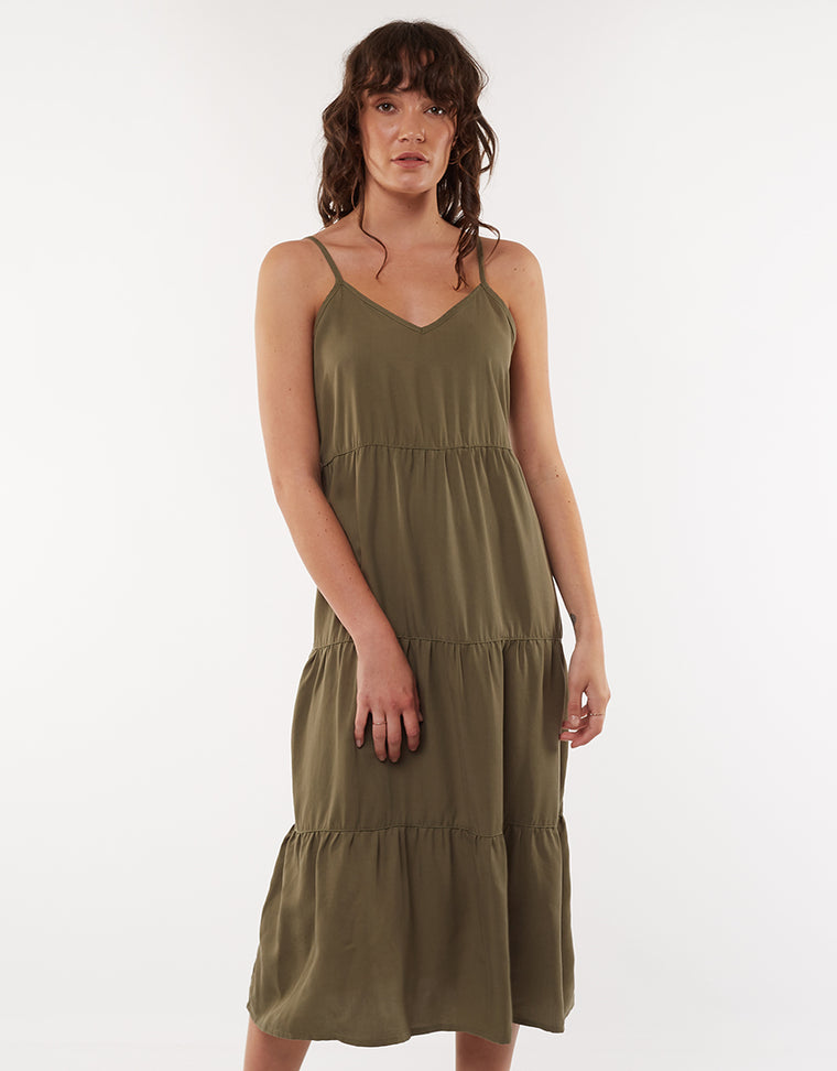 Bondi Midi Dress Khaki