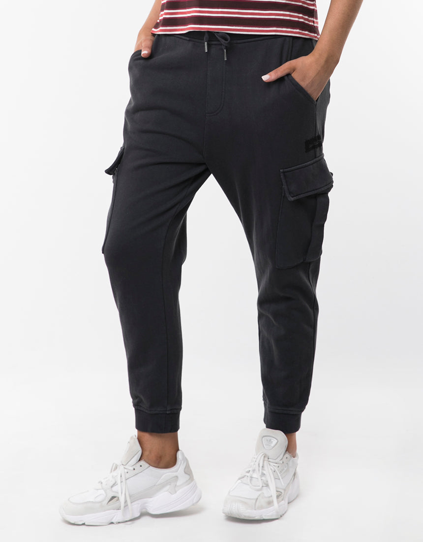 All About Eve Clothing COMBAT TRACKPANT - CHARCOAL