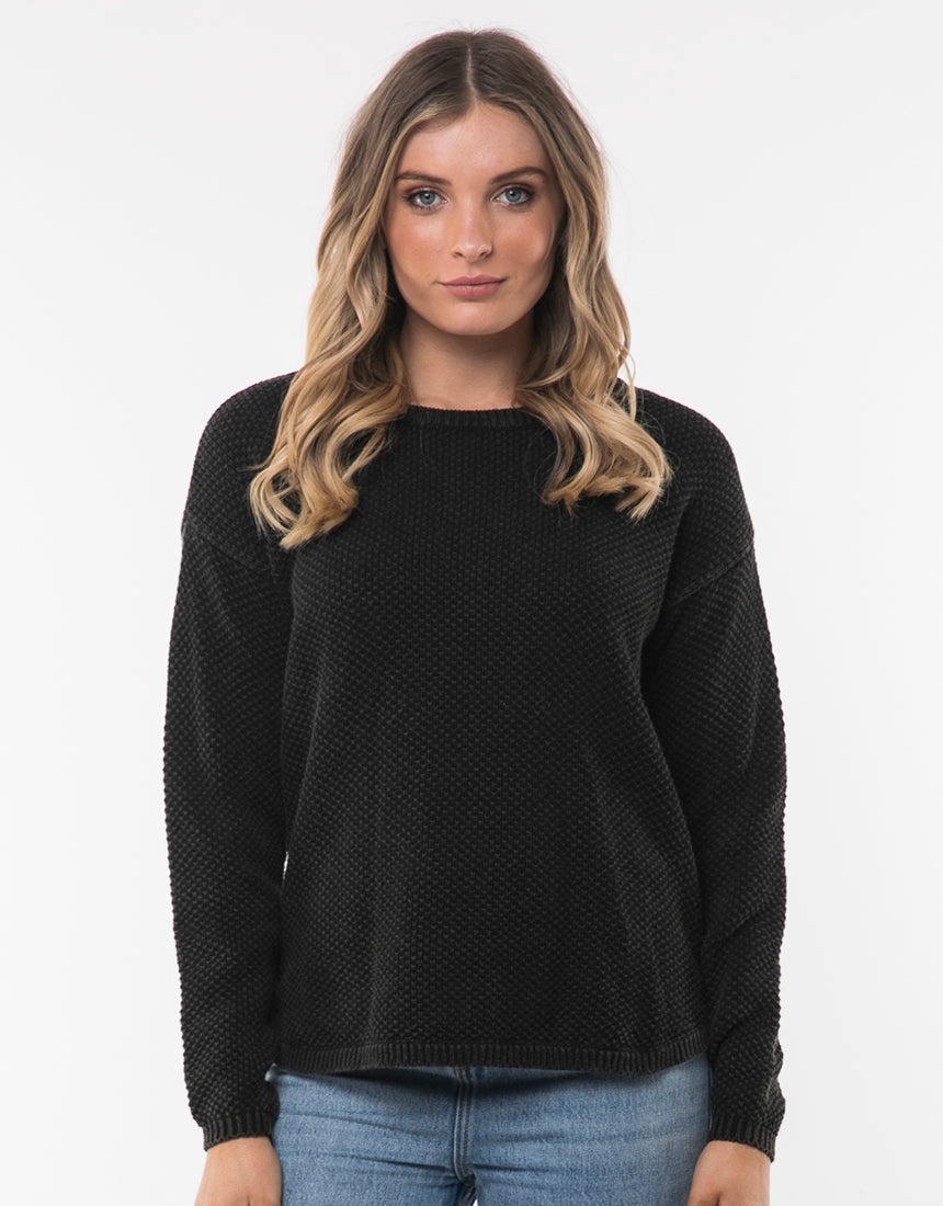 All About Eve Clothing VINTAGE KNIT - BLACK