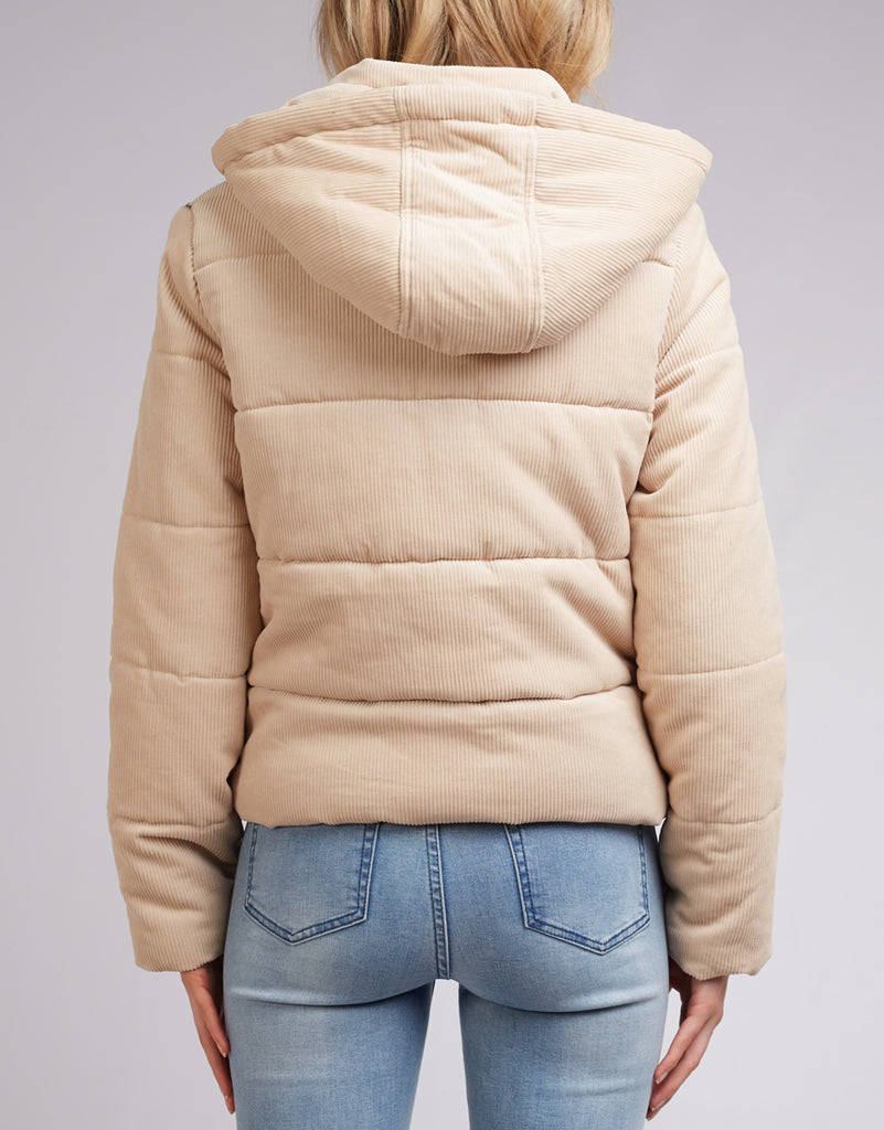 CALI CORD PUFFER - VINTAGE WHITE