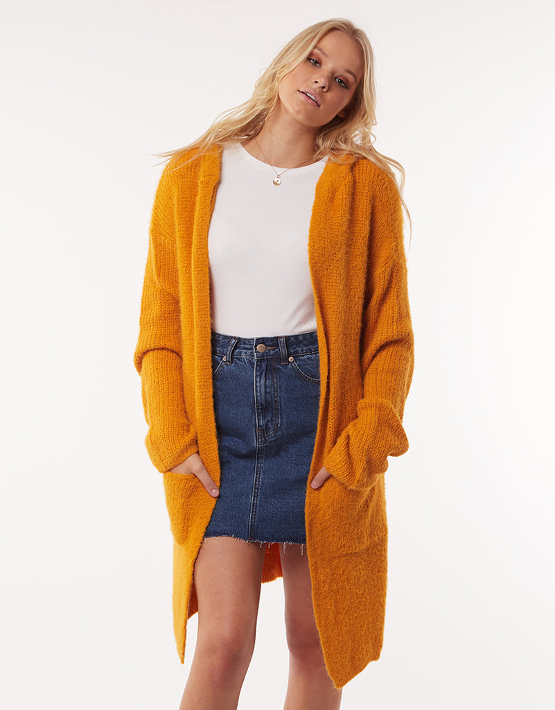 Sadi Knit Cardi Dirty Gold