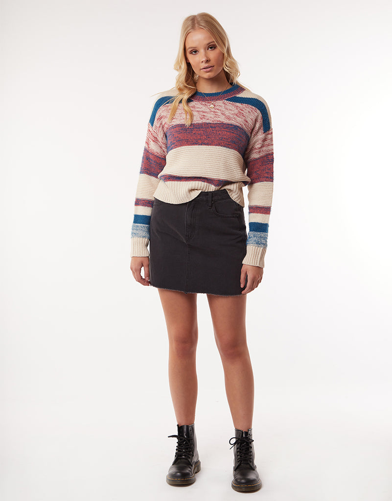 ALLI KNIT CREW - STRIPE
