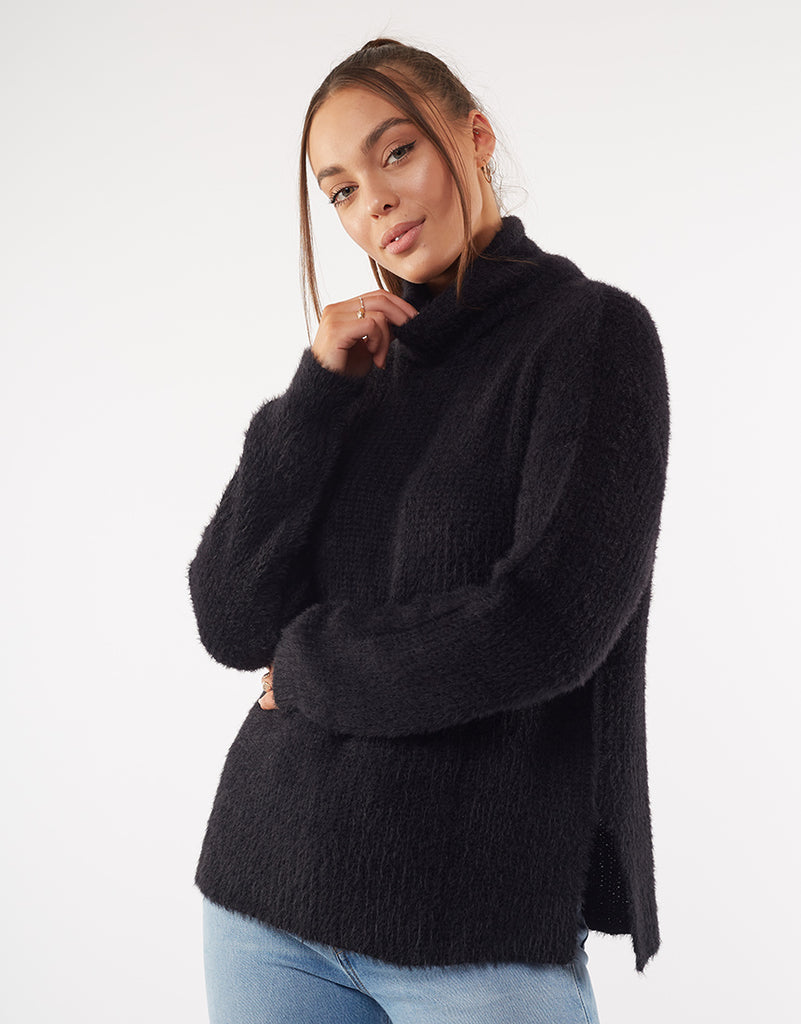 AMOUR KNIT - BLACK