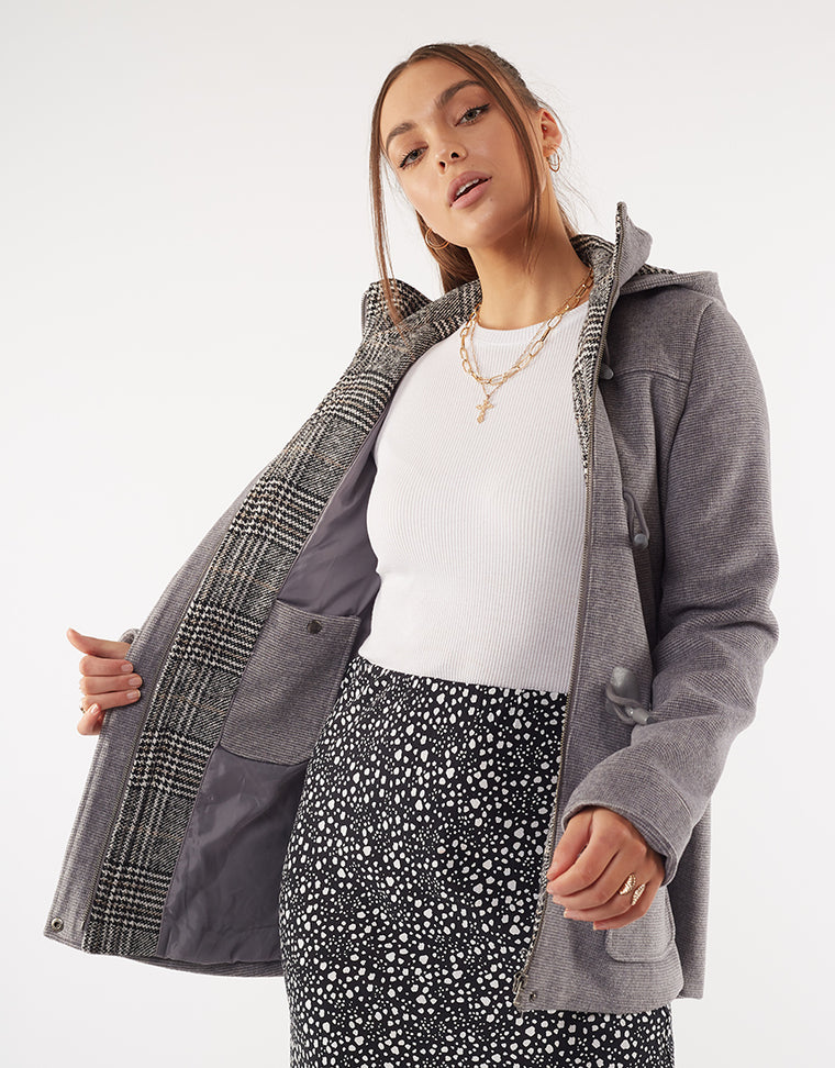 DUFFLE COAT - GREY MARLE