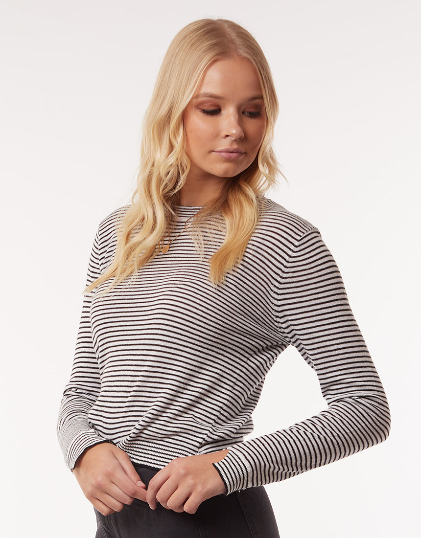 All About Eve Clothing LENNY KNIT TOP - STRIPE