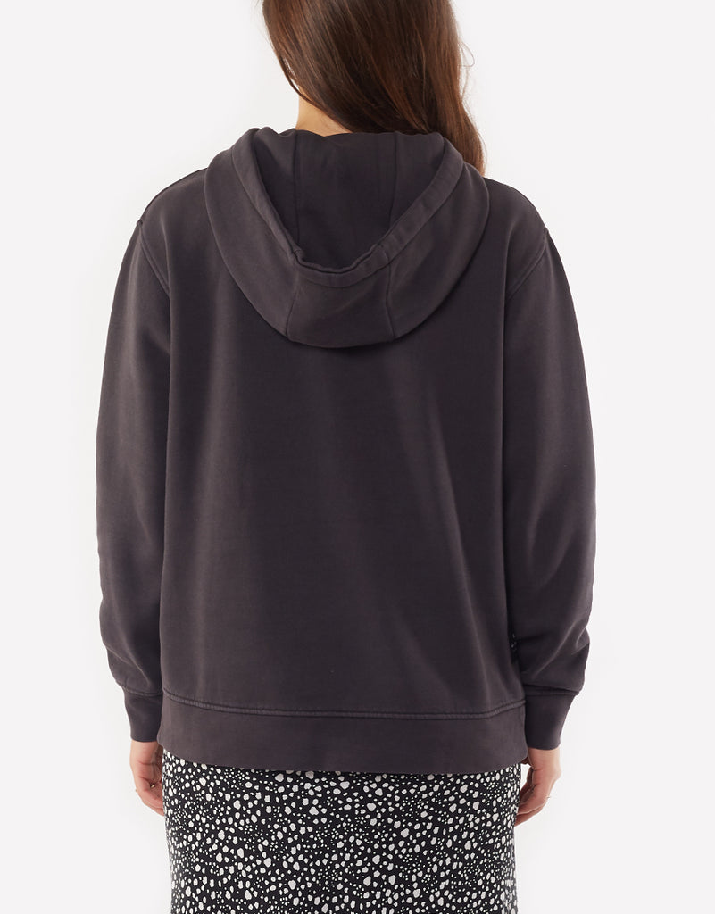 BE BOLD HOODY - WASHED BLACK