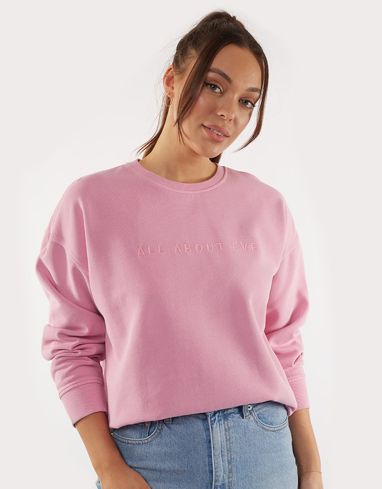 EVE WASHED SWEATER - PINK