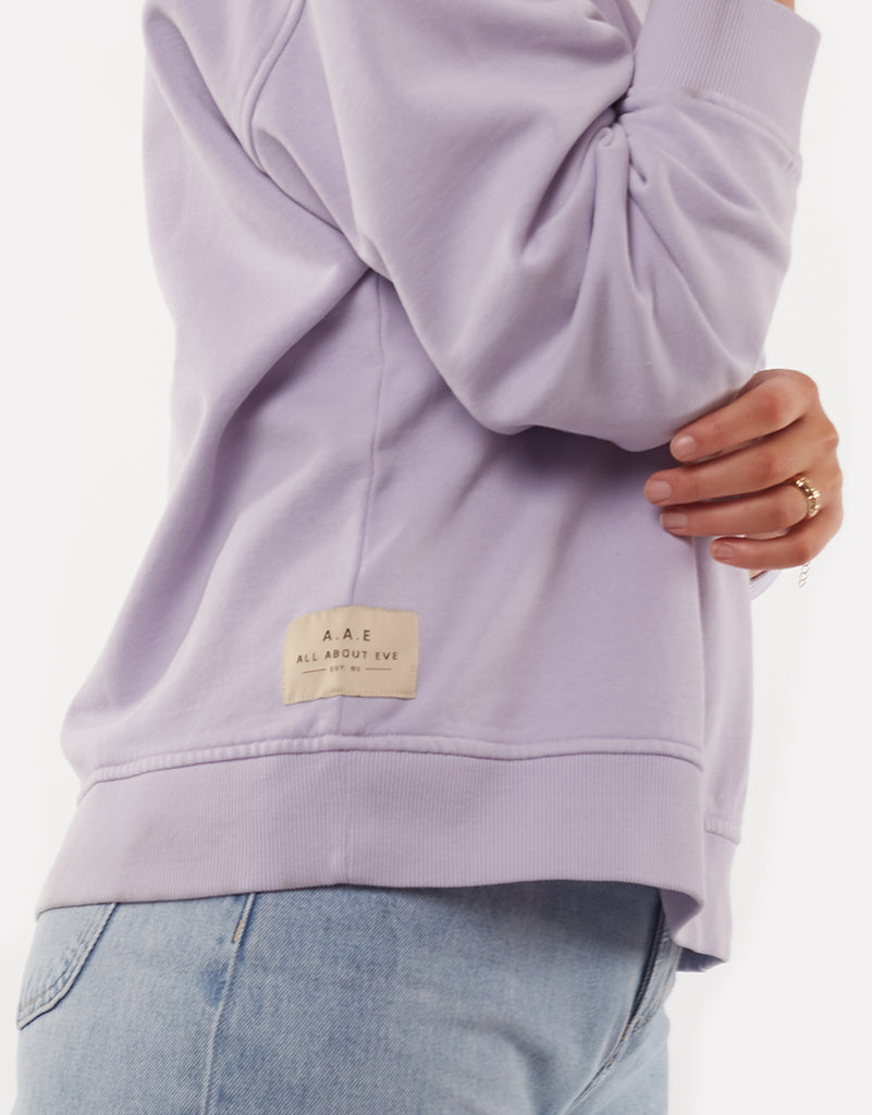 EVE WASHED SWEATER - PURPLE