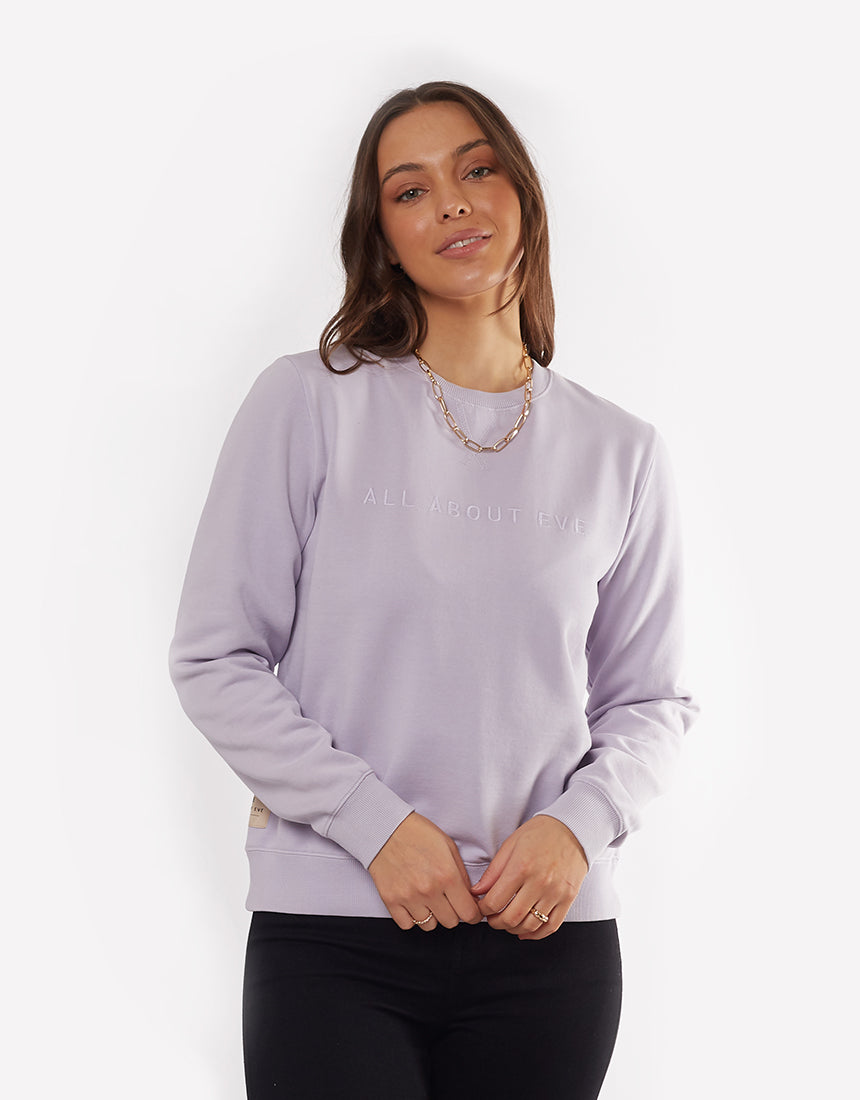All About Eve Clothing MON WASHED CREW - PURPLE