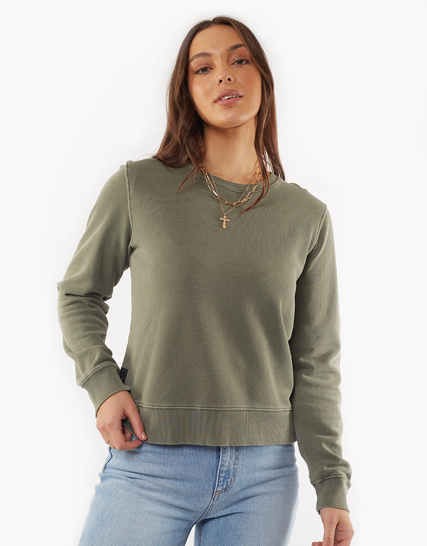 All About Eve Clothing ESSENTIAL CREW - KHAKI