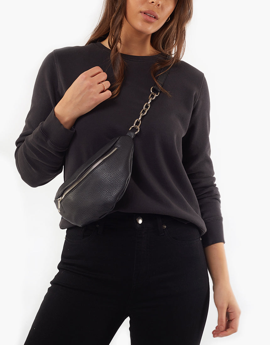 All About Eve Clothing ESSENTIAL CREW - WASHED BLACK