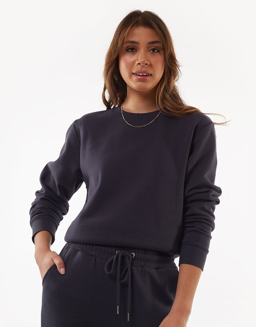 All About Eve Clothing WANTED CREW - CHARCOAL