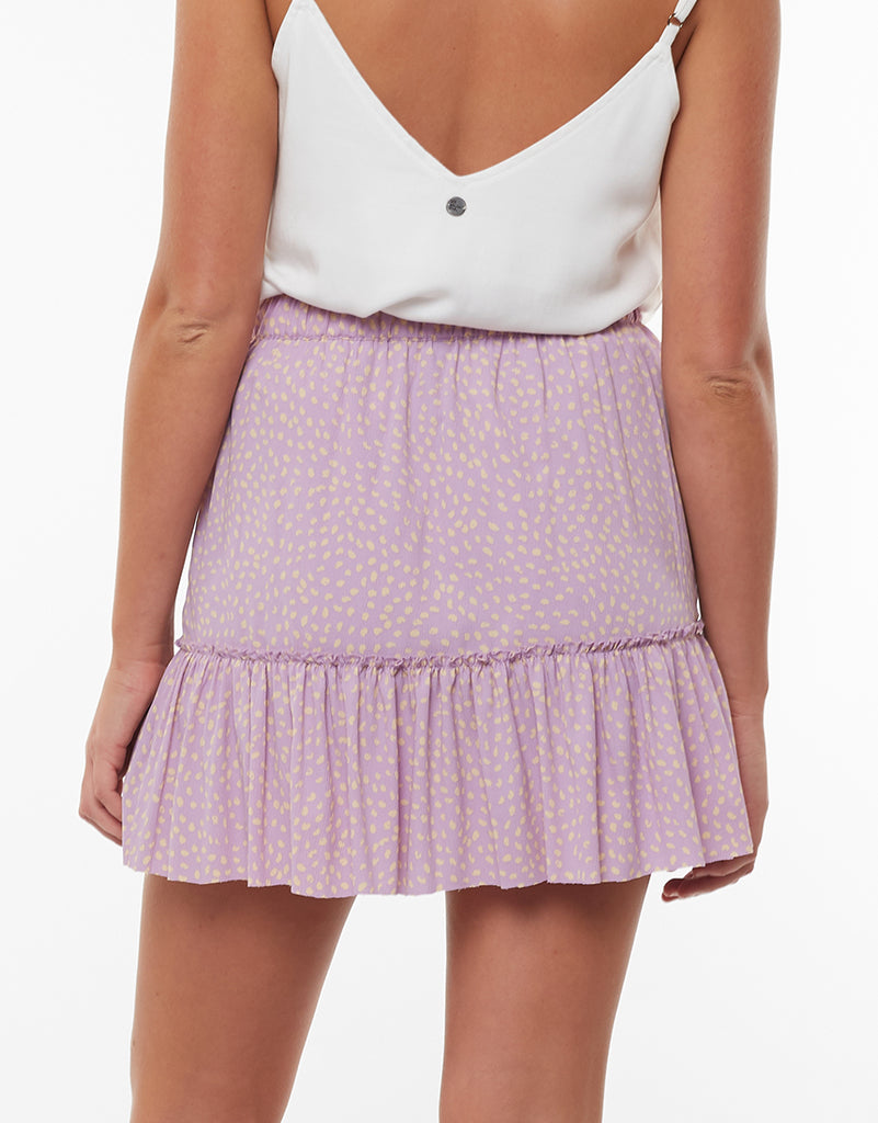Sprinkle Mini Tiered Skirt Print