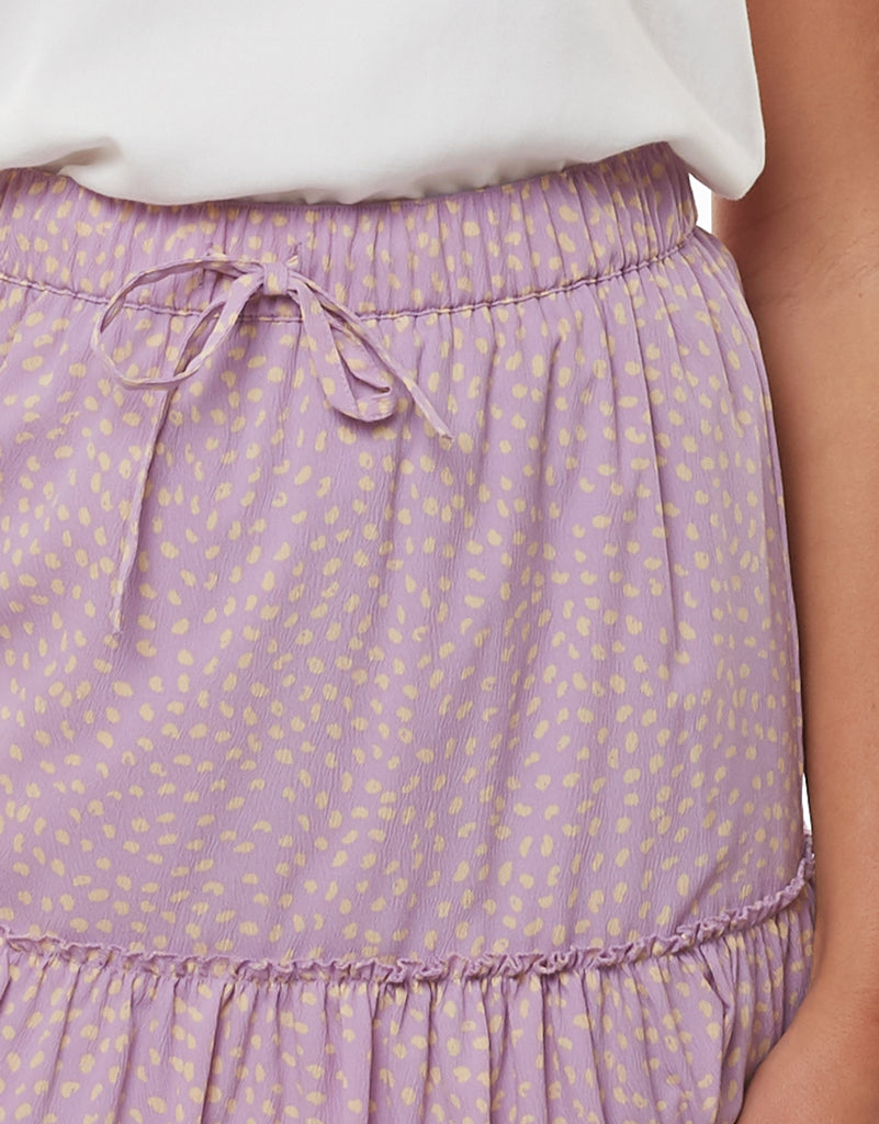 SPRINKLE MINI TIERED SKIRT - PRINTED