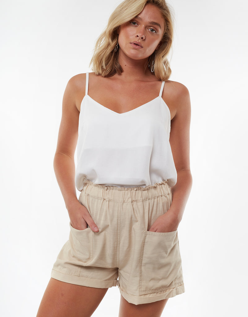 Utility Paperbag Short Nude