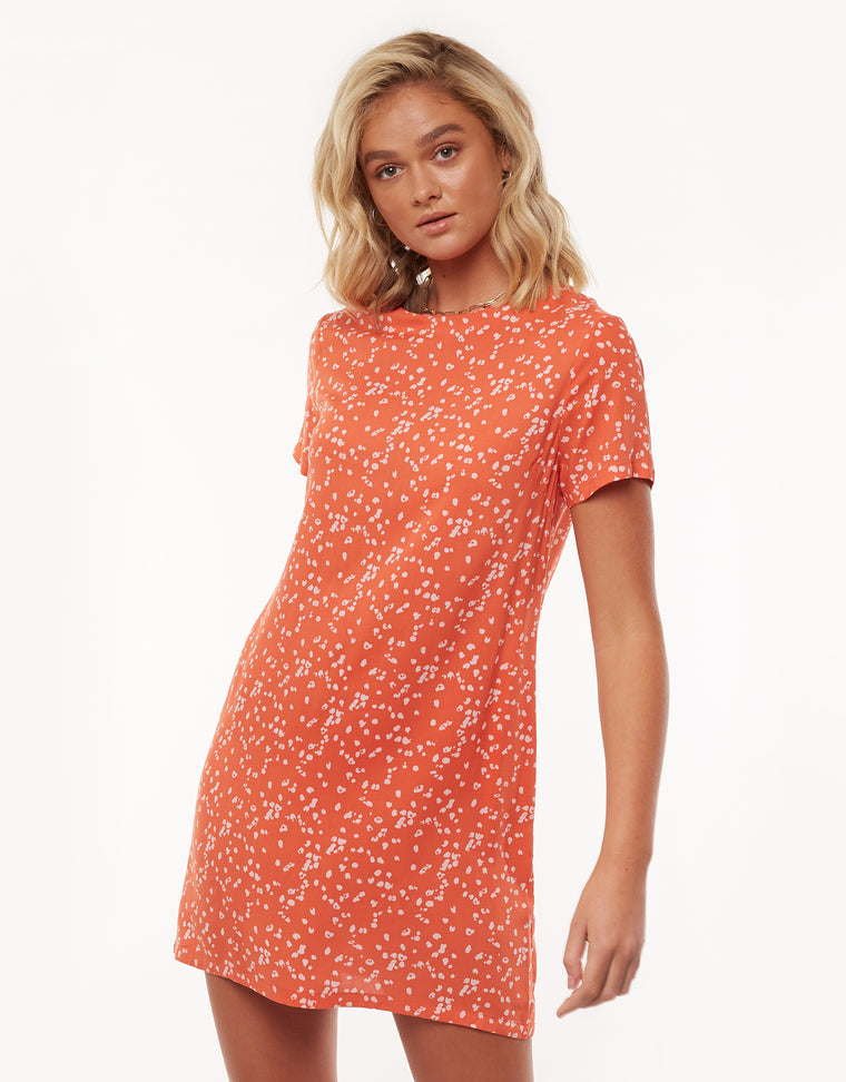 SPRING SHIFT DRESS - PRINT
