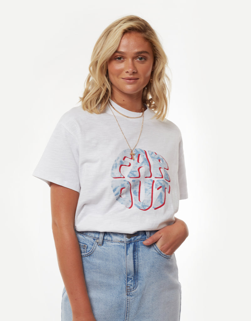 Far Out Tee White