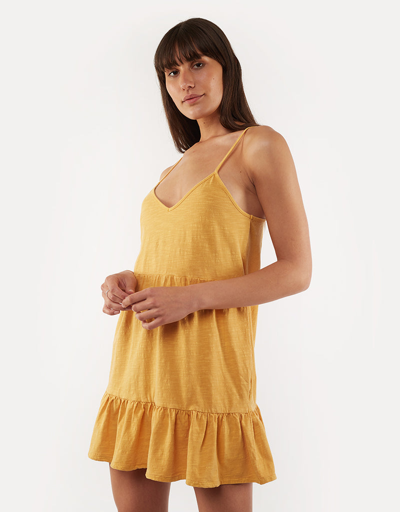 Summer Breeze Jersey Dress Gold