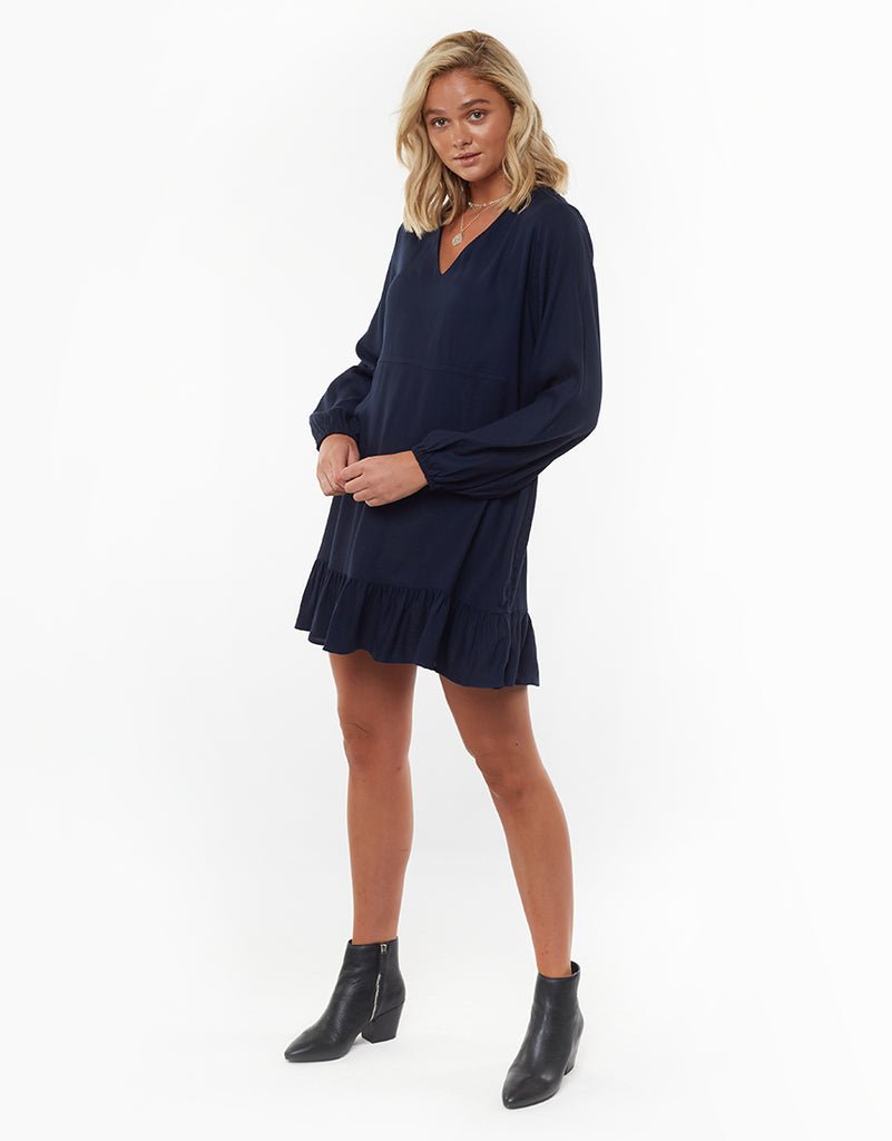 CECILE DRESS - NAVY