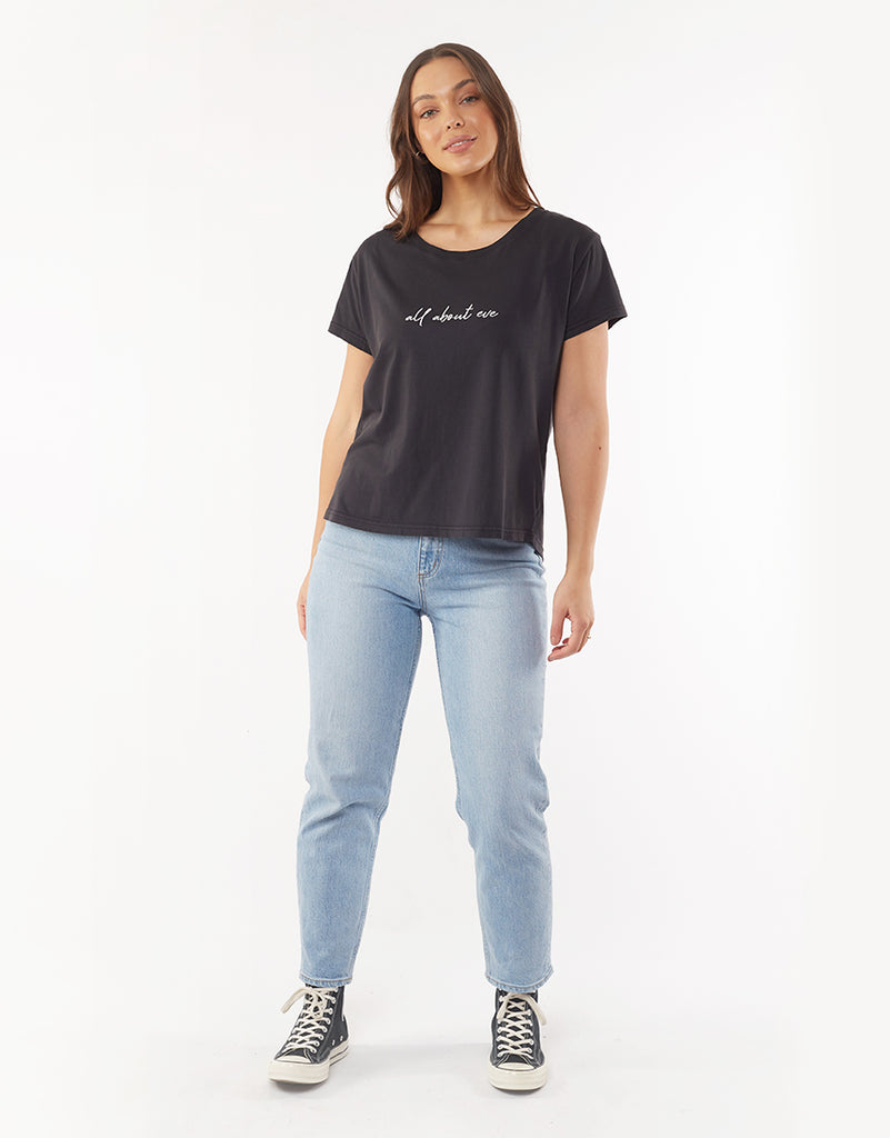 MIKA RELAXED TEE - BLACK