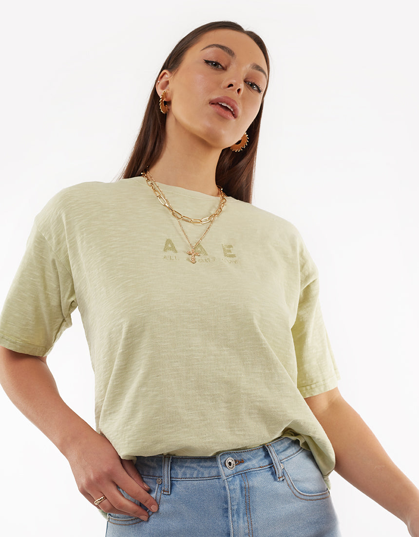All About Eve Clothing AURA CLASSIC TEE - LIGHT GREEN