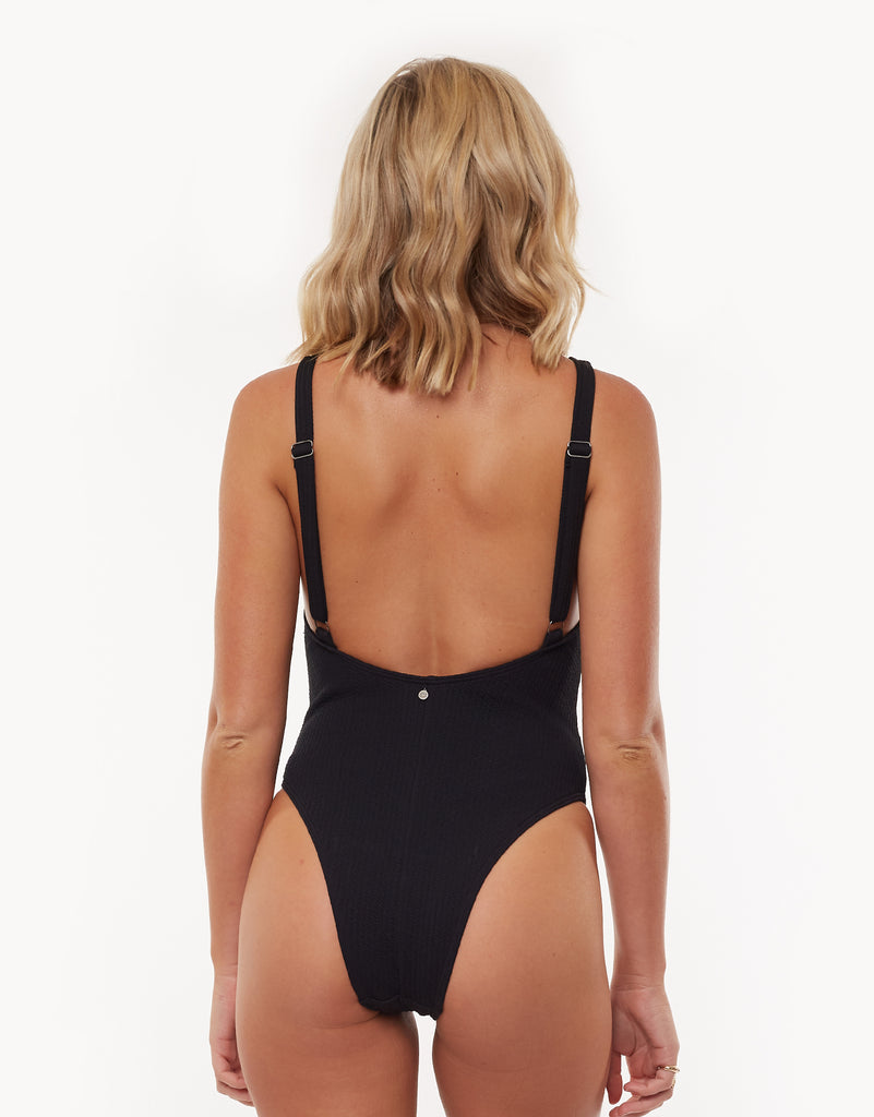 90'S Retro One Piece Black