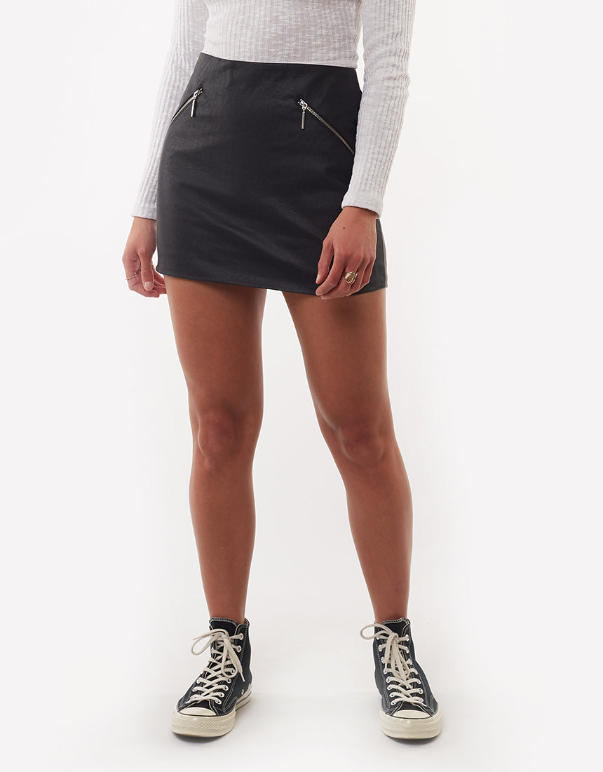 All About Eve Clothing ROCKER SKIRT - BLACK