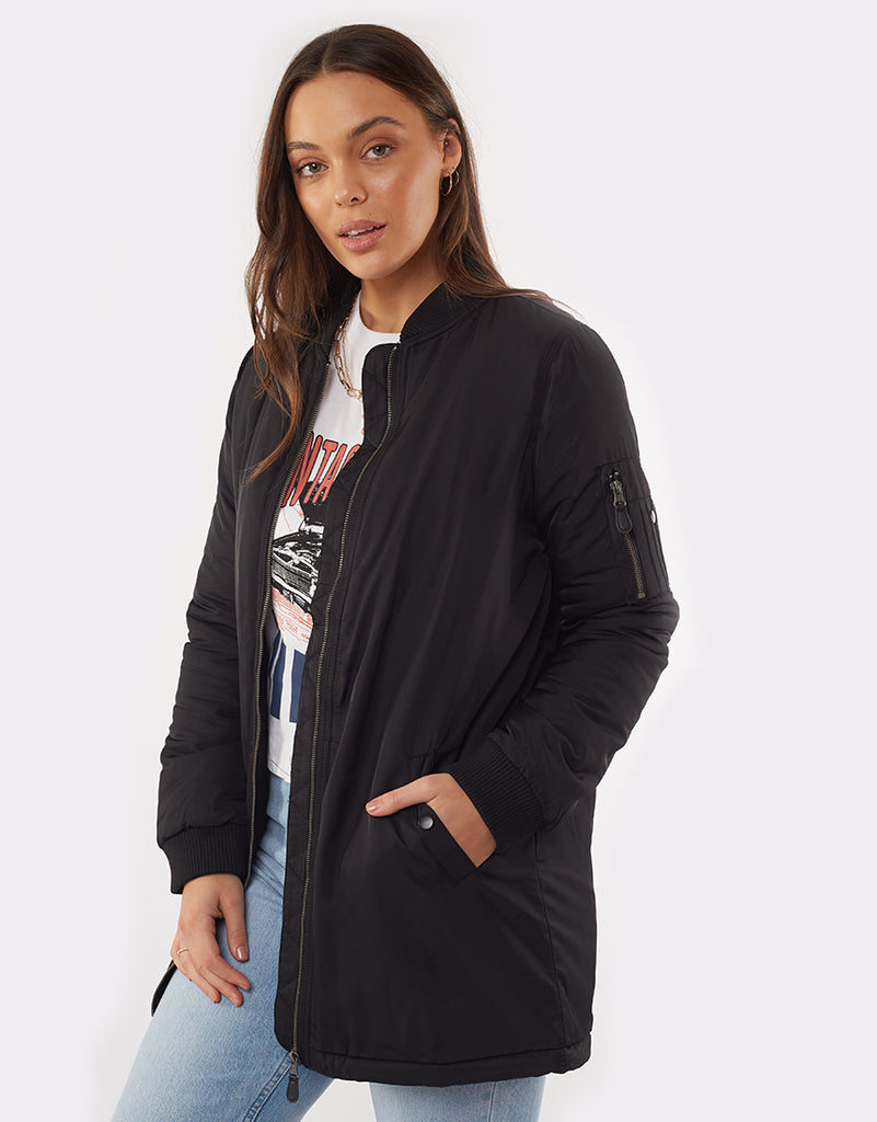 Bomber Force Longline Black