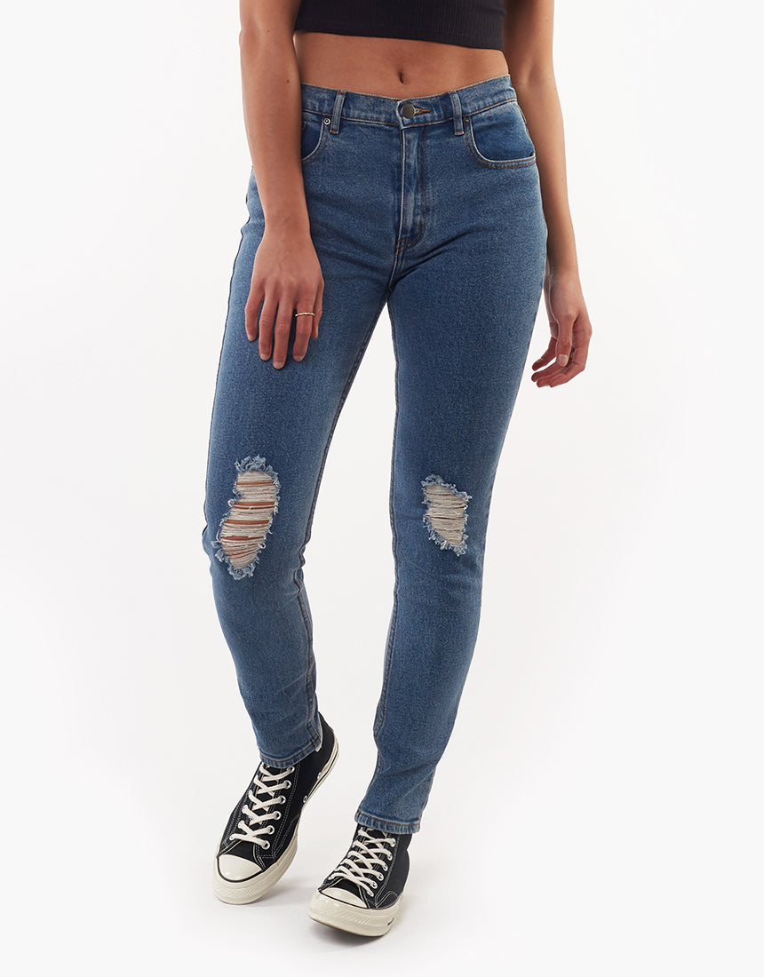 All About Eve Clothing EVIE SKINNY JEAN - MID BLUE
