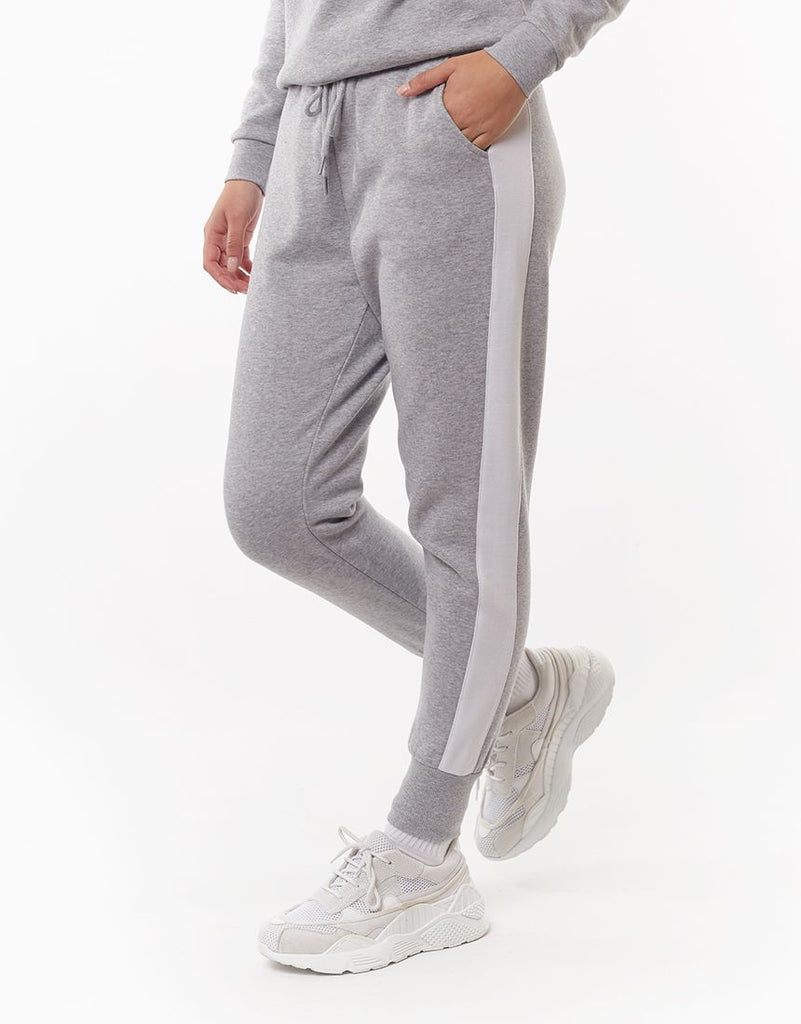 FRONTED TRACKPANT - GREY MARL