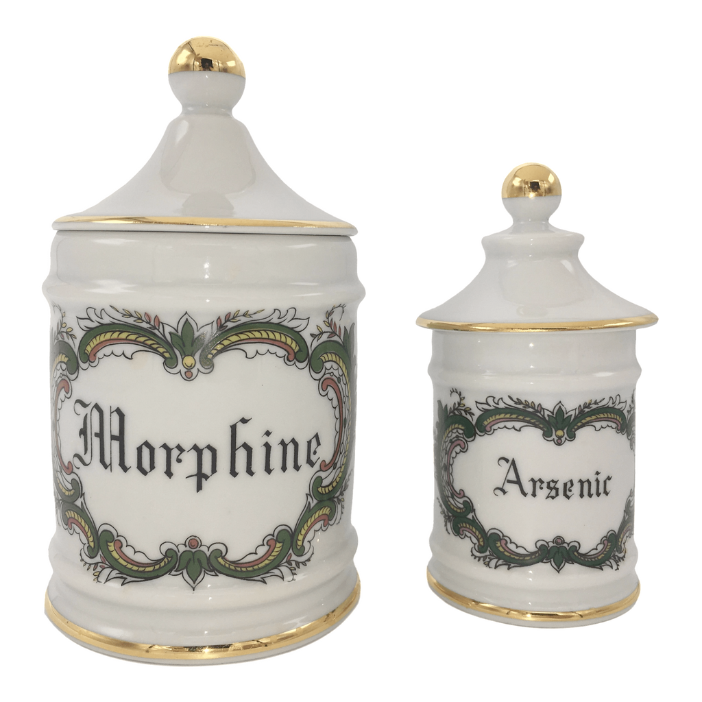 Limoges Porcelain Apothecary Jars