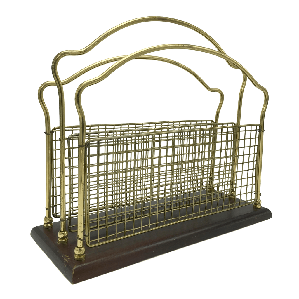 Brass Victorian Magazine Rack