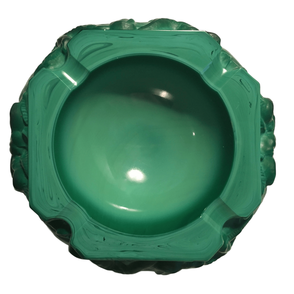 Malachite Elephant Ashtray in the Style of Schlevogt