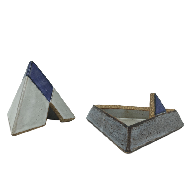Glazed Stoneware Pyramid Trinket Box