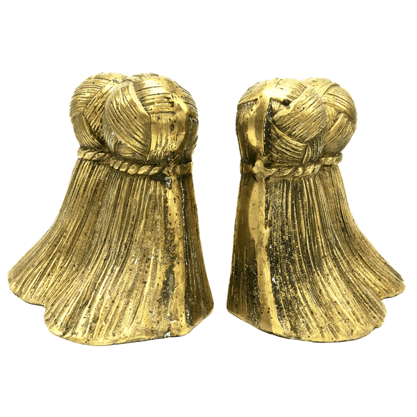 Brass Tassel Bookends