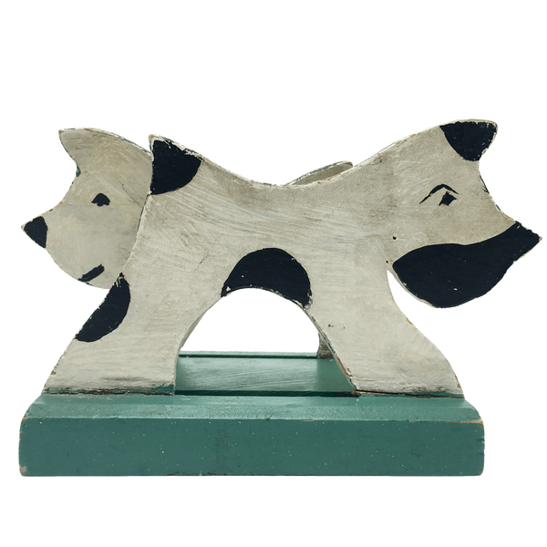 Folk Art Terrier Letter Holder