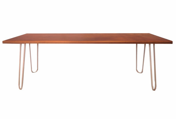 Pine Bench Seat with Hairpin Legs, Bench Seat | Base Furniture | Christchurch | New Zealand