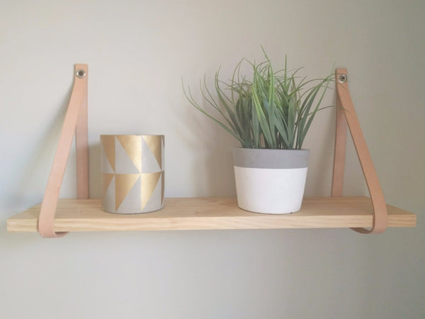 Leather Strap Shelf, Shelf | Base Furniture | Christchurch | New Zealand