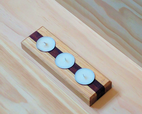Candle Holder - Pine & Recycled Jarrah, Candle Holder | Base Furniture | Christchurch | New Zealand