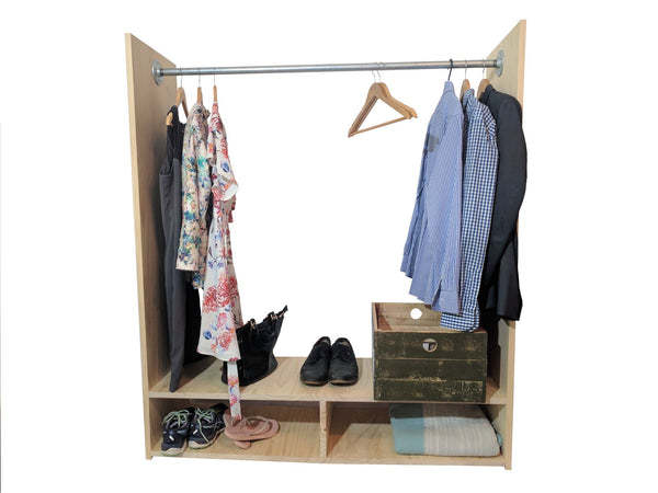 Clothing Rack + Thebe Desk Combo, Office Desk | Base Furniture | Christchurch | New Zealand