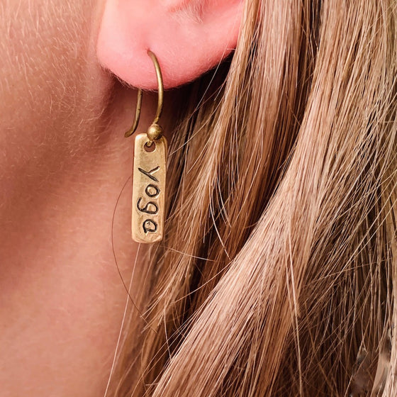 Brass Yoga Earrings