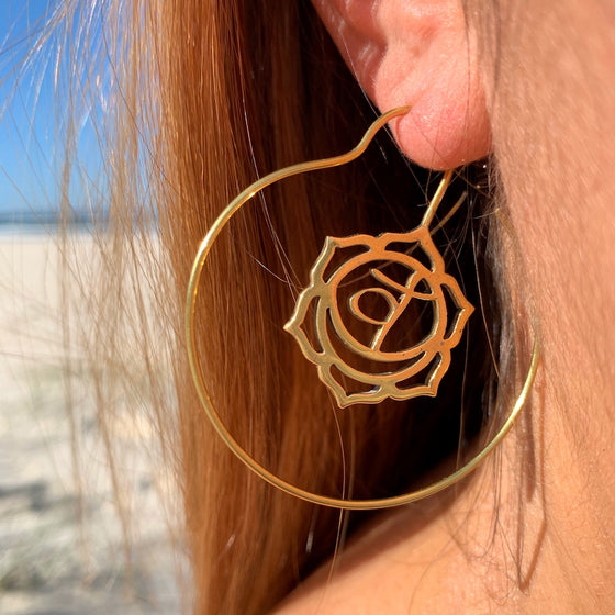Sacral Kundalini Chakra brass Earrings