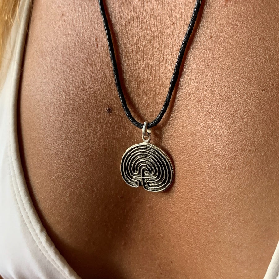 Hopi Labyrinth Silver Pendant necklace