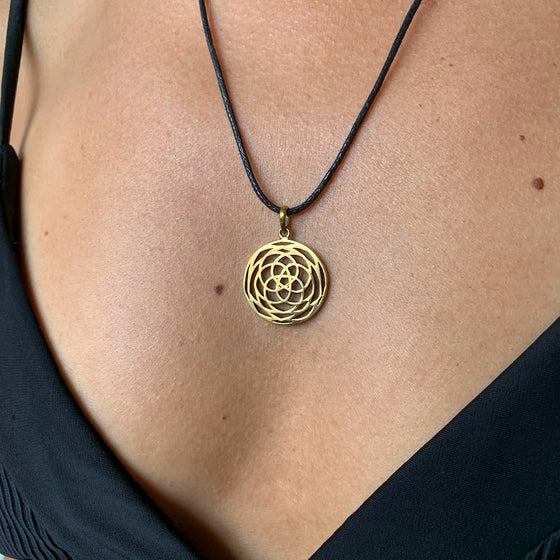 Rose Of Venus Necklace brass Pendant