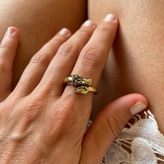 Brass Dragon Ring