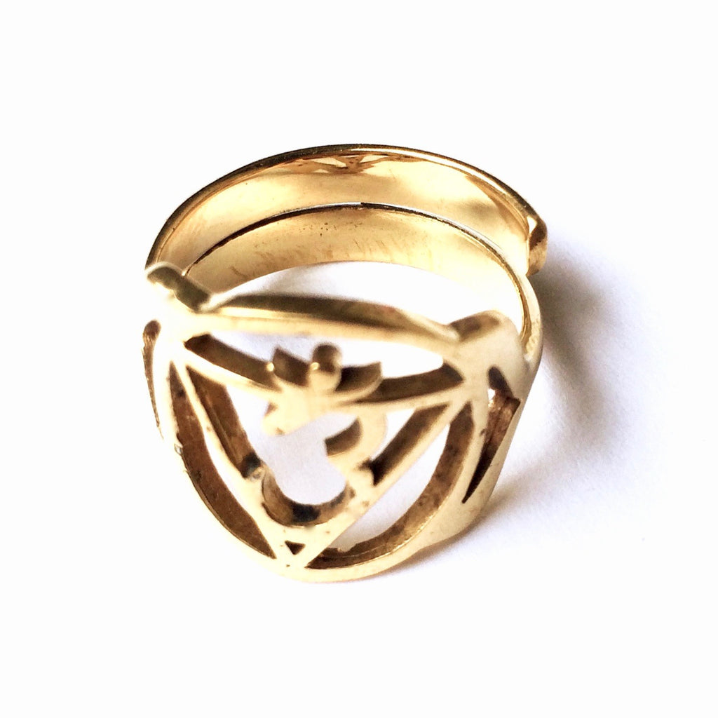 Third Eye Chakra Balancing Brass Yoga Ring