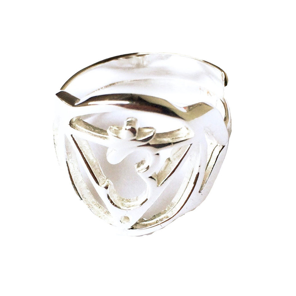 Third Eye Chakra Balancing Silver Ring