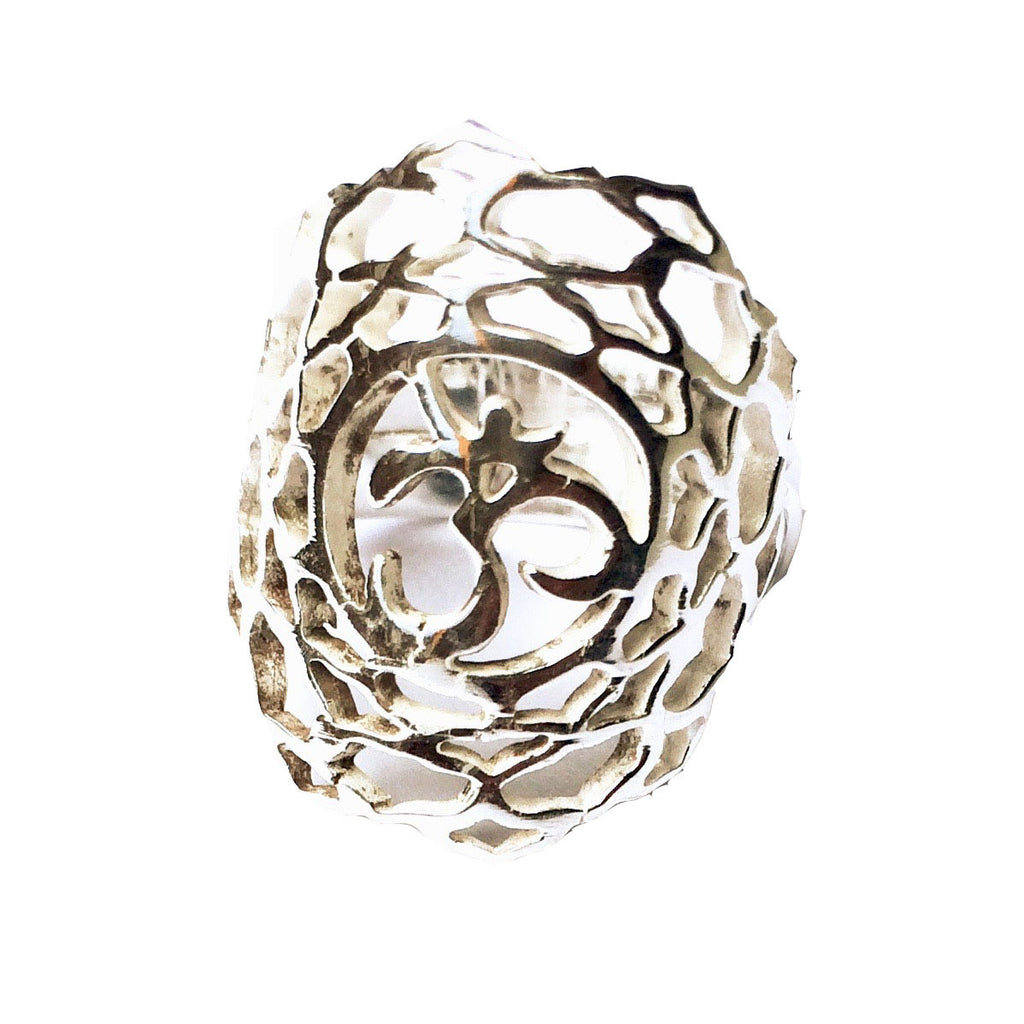 Crown Chakra Silver Ring yoga jewellery