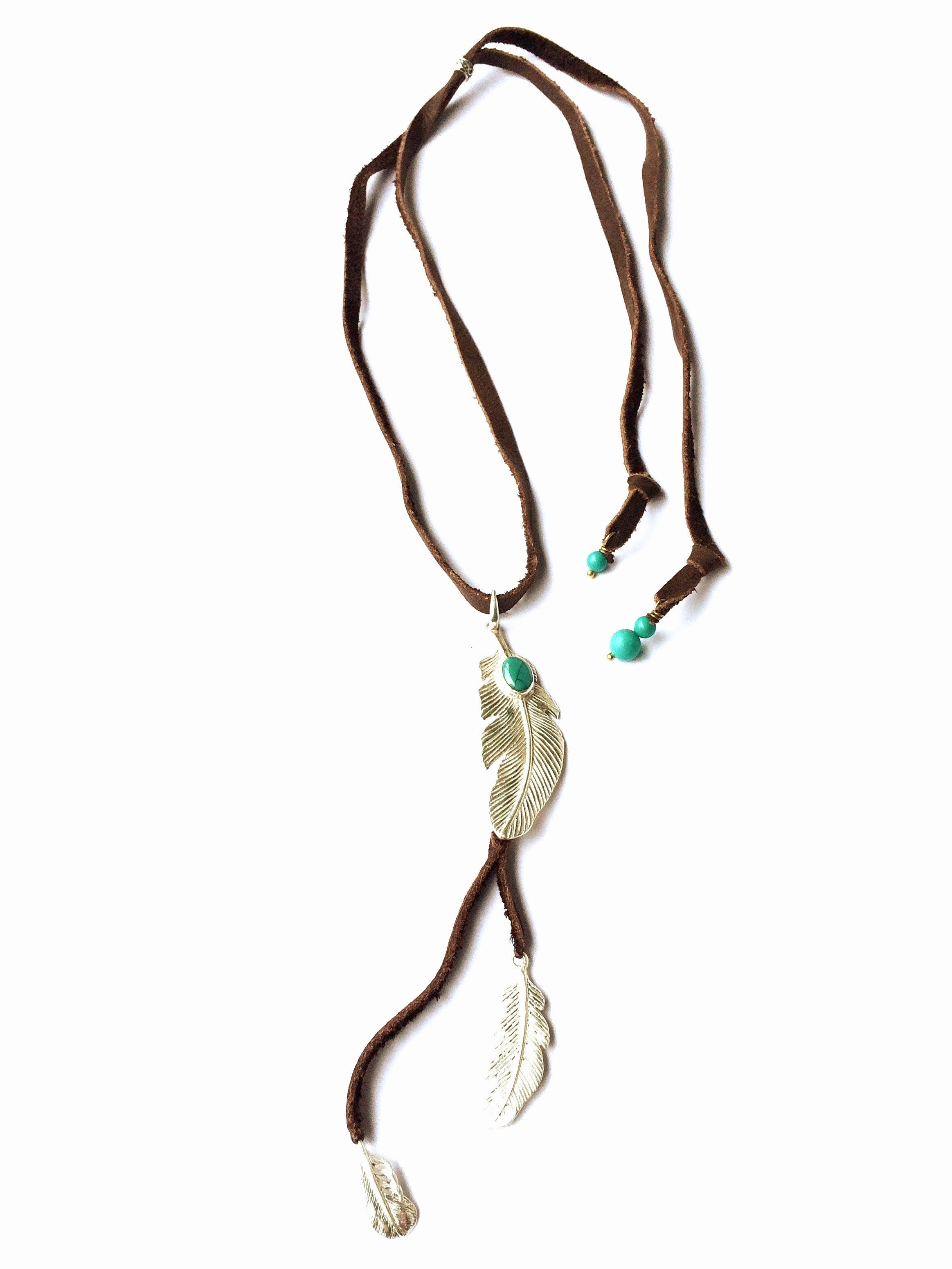 sku feathered store necklace